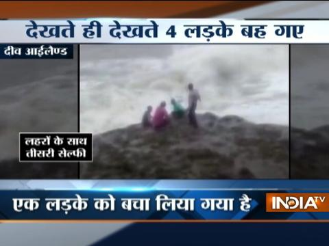 Daman and Diu: Youths washed away while taking selfie at Diu's Nagoa Beach