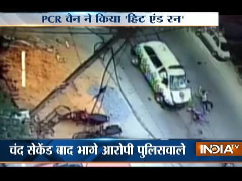 Hit-And-Run: Noida PCR van hit bike riders & run away without helping them
