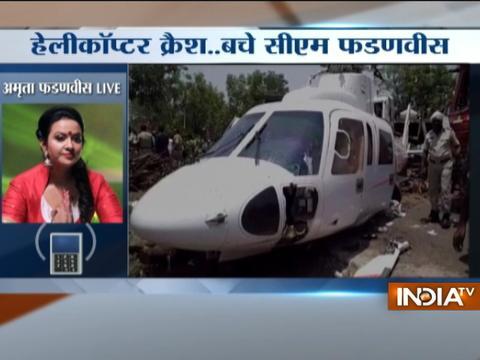 Amrita Fadnavis: CM Fadnavis is safe, thanks to everyones good wishes