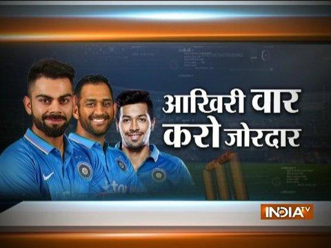 Aus win the toss and elect to bat in the fifth ODI against India