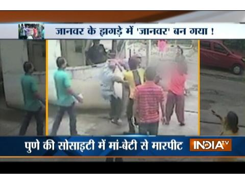 Man caught on camera beating women in Pune