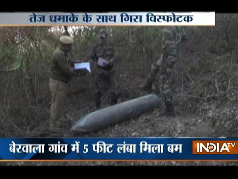 5 feet long explosive recovered from a forest in Panchkula