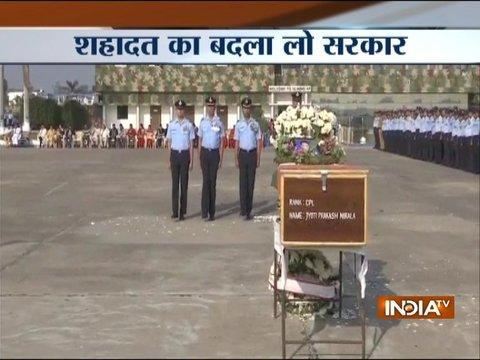 Tributes paid to Garud commando Jyoti Prakash Nirala at Chandigarh Air Force station