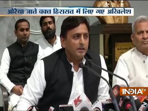 Uttar Pradesh: Akhilesh Yadav detained in Unnao