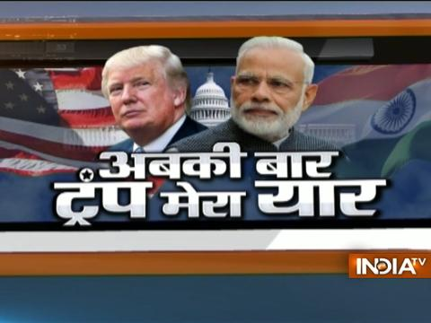 Indians gather at Joint Base Andrews, Washington DC to welcome PM Narendra Modi