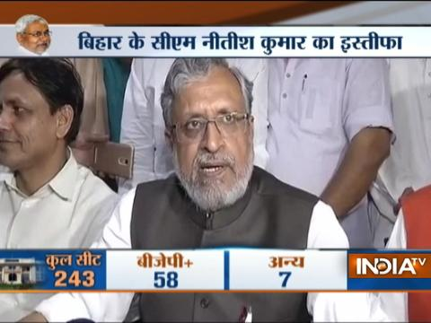 Sushil Modi react to Nitish Kumar resigns as Bihar CM
