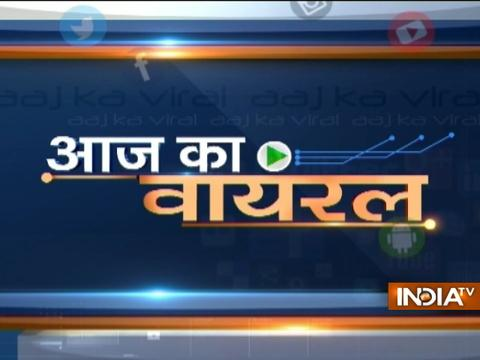 Aaj Ka Viral: Suspected Bajrangdal forced and threatened to say ''Jai shree Ram''