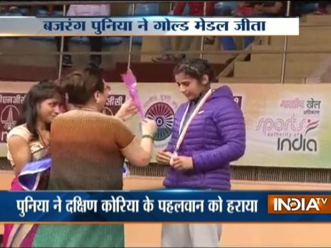 Wrestler Bajrang Punia wins gold at Asian Championships