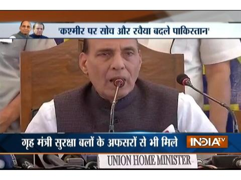 Kashmir: Home Minister Rajnath Singh tells security forces to avoid using