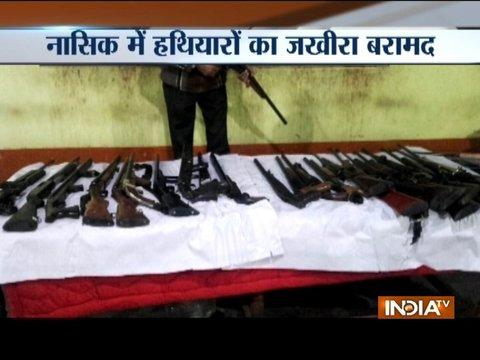 Police seizes huge cache of arms and ammunition from a vehicle in Nashik