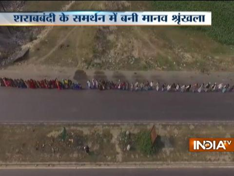Over 3 crore people join hands to form human chain in support of liquor ban in