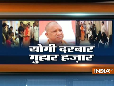 UP CM Yogi Adityanath holds first janta darbar in Lucknow after Gorakhpur