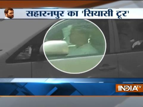 UP: Rahul Gandhi leaves for riot-hit Saharanpur