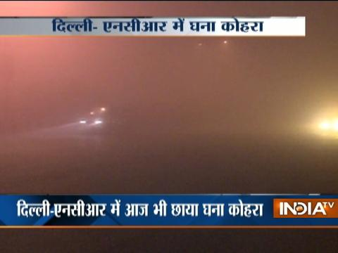 Dense fog covers Delhi-NCR, visibility low