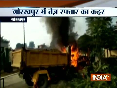 UP: Student killed after being hit by out of control dumper in Gorakhpur