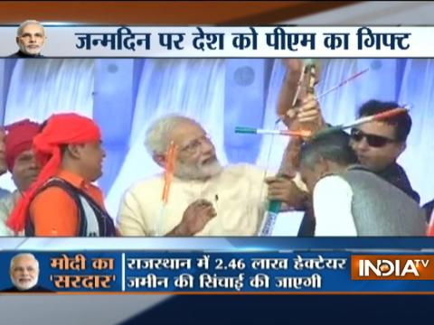 PM Modi dedicates Sardar Sarovar Dam to the nation on 67th birthday