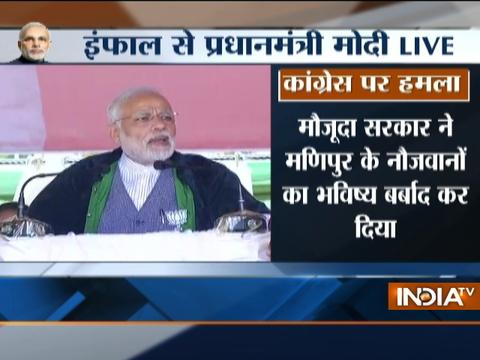 Manipur Polls 2017: PM Modi addresses rally in Imphal