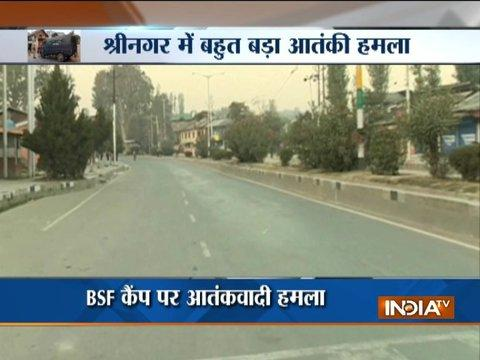 Terrorist attack on BSF camp in Srinagar