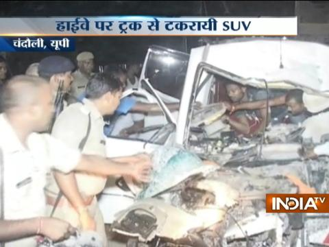 UP: 4 killed as SUV collides with truck in Chandauli