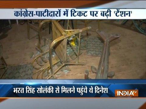 Gujarat polls: Patidars stage protest against Congress