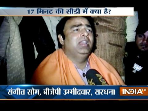 UP Polls 2017: BJP MLA Sangeet Som booked for showing