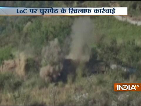 Indian army destroys infiltration infrastructure on the LoC in Naushera, Pak posts targeted