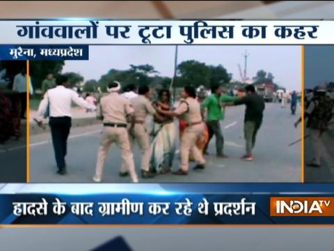MP: Cyclist killed in an accident, police lathicharge over protesting villagers