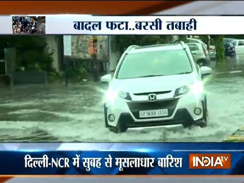Heavy rains lashes Delhi-NCR, several regions waterlogged