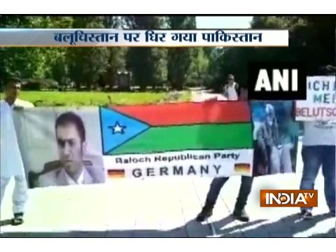 Overseas Baloch protesters raised slogans against the Pakistan in Germany, wave
