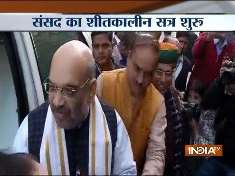 Amit Shah reaches Parliament, to make his Parliamentary debut in Rajya Sabha today