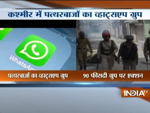 Jammu and Kashmir: 300 WhatsApp groups used to mobilise stone-pelters