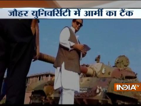 UP: Army gifts battle tank to SP Leader Azam Khan's University in Rampur