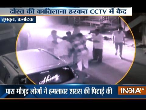 Karnataka: Man caught on camera attacking friend with knife