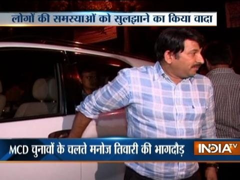 MCD Elections 2017: Delhi BJP chief Manoj Tiwari spends a night at Sultanpuri area