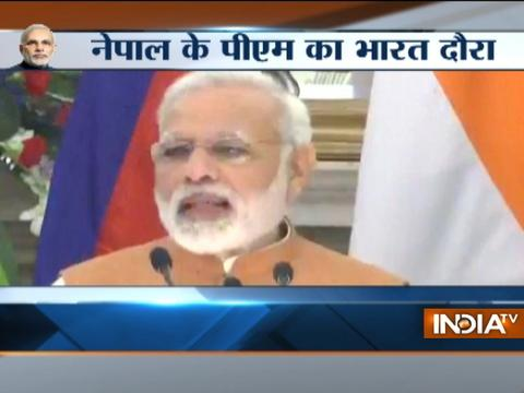 Great honor that I have the opportunity to welcome Nepal PM Sher Bahadur Deuba here: Modi