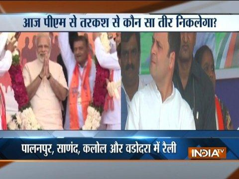 Gujarat Election: PM Modi to hold 4 rallies today, Rahul to visit Ranchhodji Temple