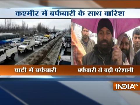 Temperature dips as Kashmir receives fresh snowfall