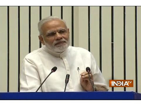 PM Modi at the inauguration of the INDOSAN (India Sanitation Conference)