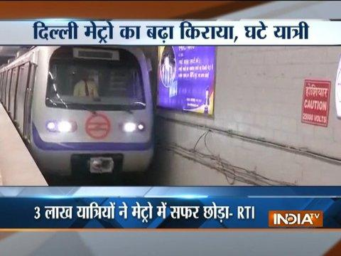 Delhi Metro ridership down by 3 lakh per day in October post fare hike