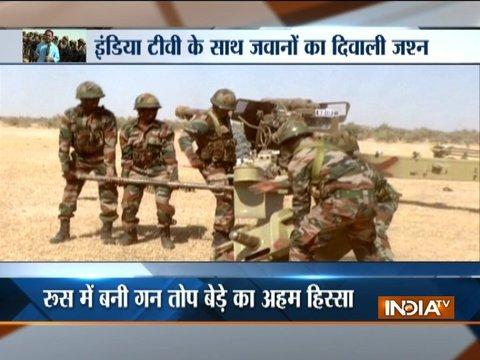 Indian Army conducts battle exercise in the deserts of Rajasthan's Pokhran