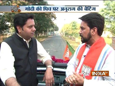 Congress does not have any leader who could compete with PM Modi, says Anurag Thakur