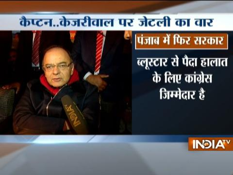Arun Jaitley expresses confidence of BJP's doing well in Punjab Polls