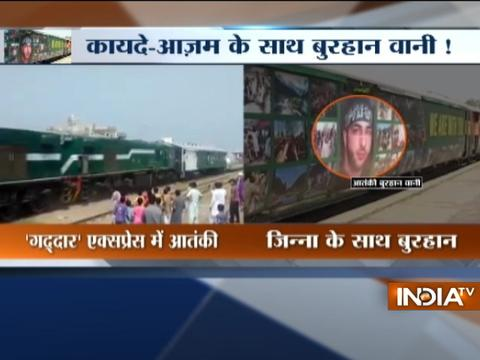 Pakistan puts up terrorist Burhan Wani's posters all across 'Azadi Express' train
