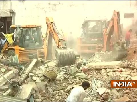 One dead as a house collapses in Bhopal