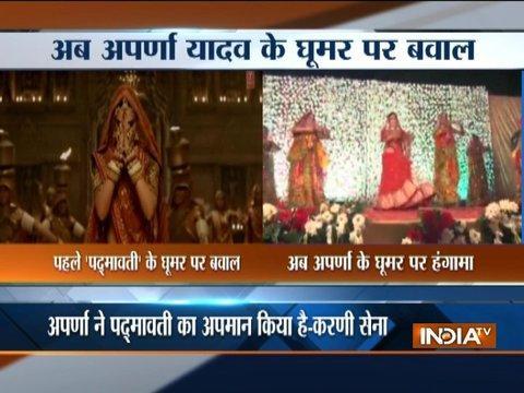 Aparna Yadav dances to 'Padmavati' tune, Karni Sena fumes