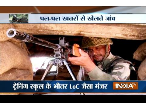 On India TV, watch training of soldiers in Kashmir