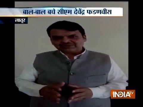 CM Devendra Fadnavis escape unhurt after his chopper makes a crash-landing in Latur