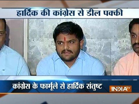 Gujarat Polls 2017: Hardik Patel accepts Congress quota deal