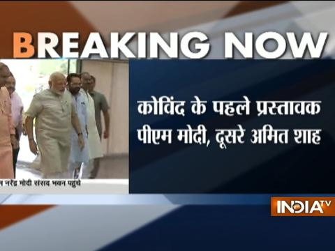 Presidential Election 2017: PM Narendra Modi reaches Parliament House