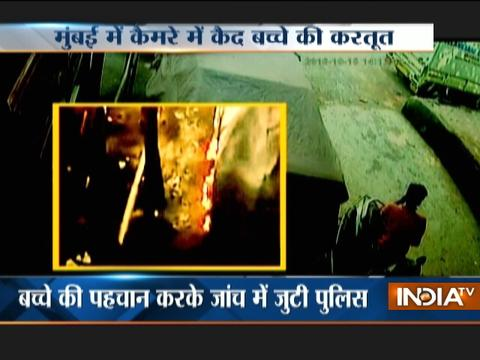Caught on Camera: Nine-year old kid sets car ablaze in Mumbai